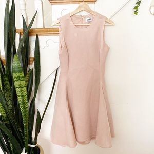dkny waffle knit pink fit and flare dress sz 4